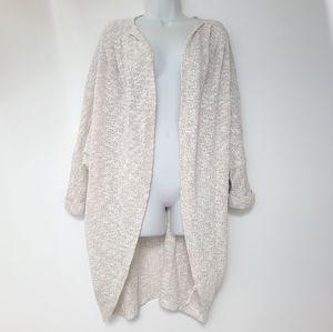 EUC Beige Long Duster Open Light Knit Cardigan M